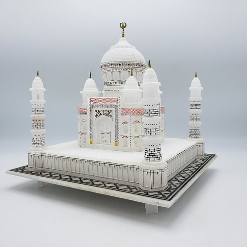 Soapstone Carved and Polychome Taj Mahal Sculpture