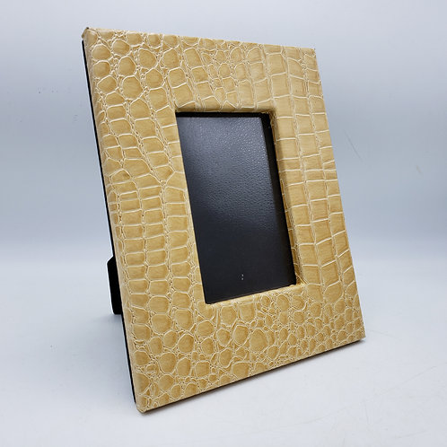"""Tan Faux Alligator Frame by Two's Company ~ 4"""" x 6"""""""