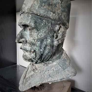 Sheik bust - Bronze