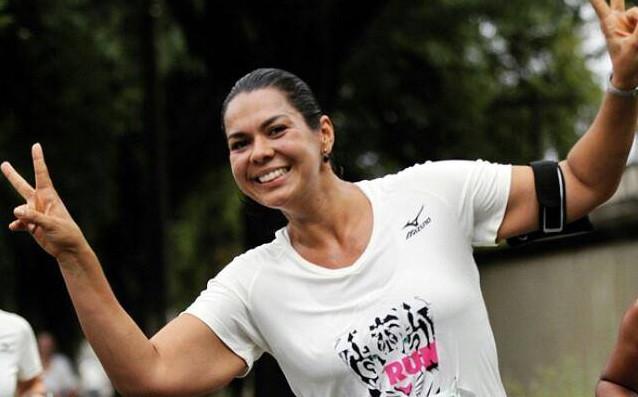 Ela conquistou os 10 KM