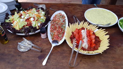 Saladas do churrasco