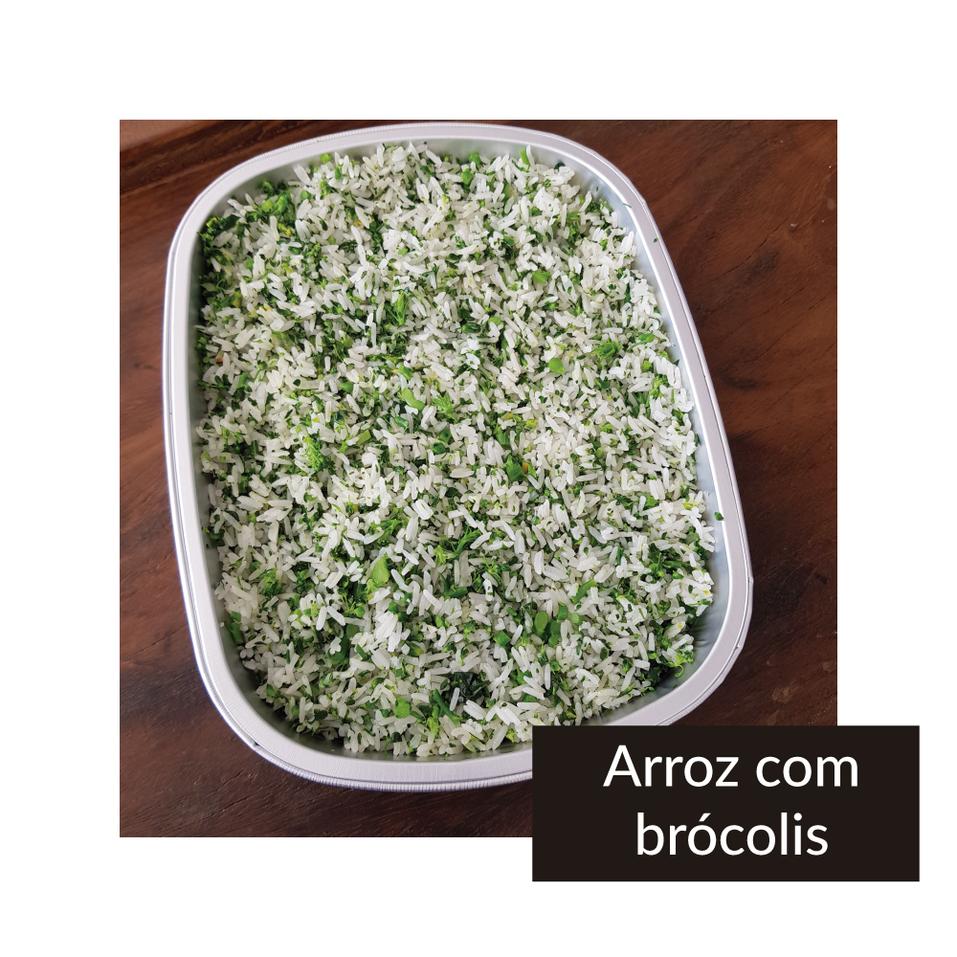 Arroz com brócolis