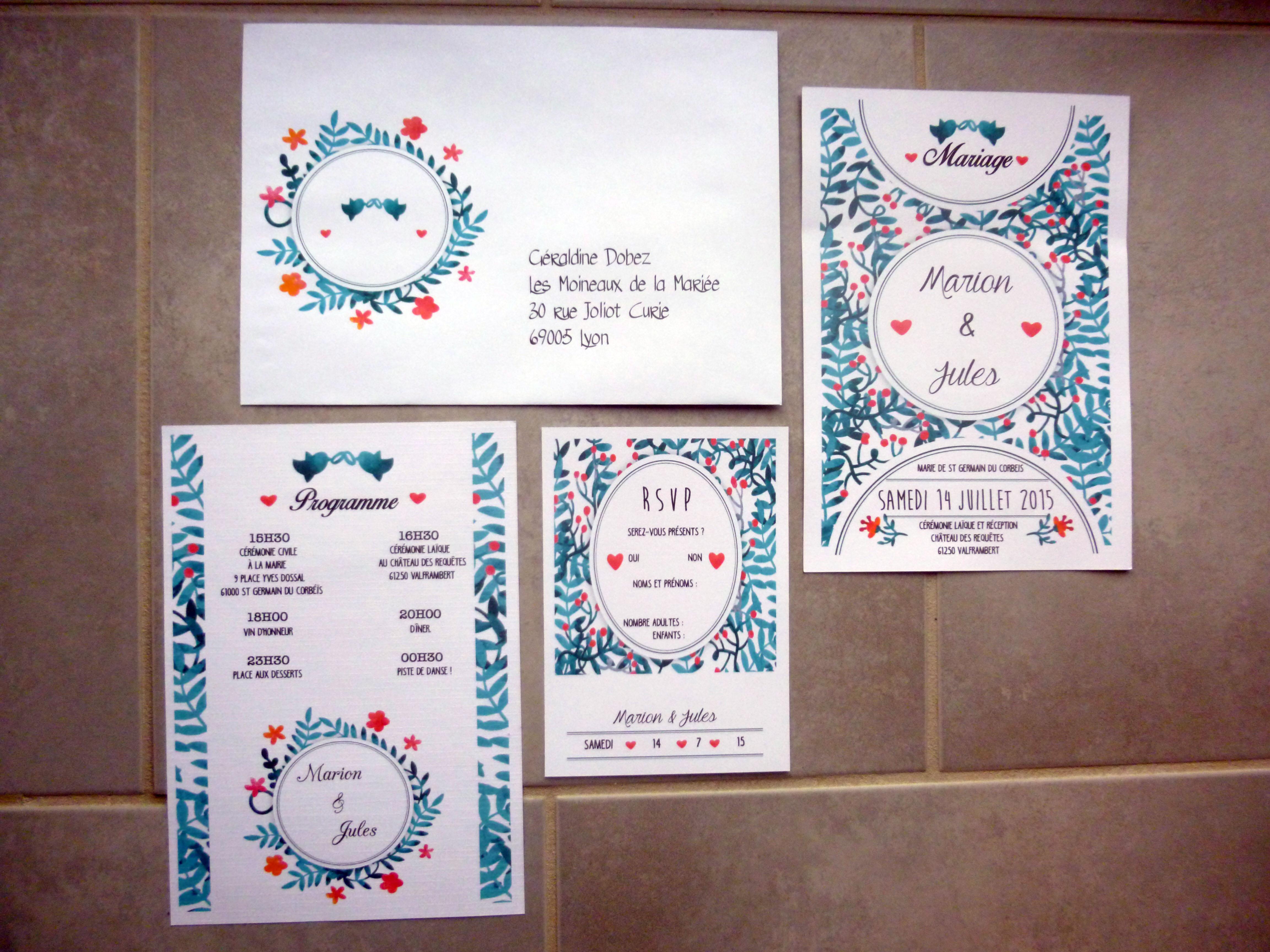 Les Moineaux De La Mariée collection mariage | lilypapeterie