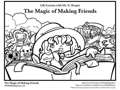 The Magic of Making Friends, Downloadable Coloring Book
