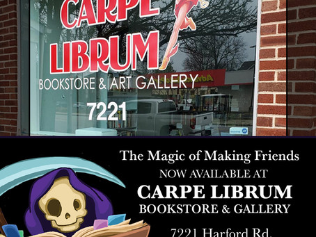 The Magic of Making Friends at Carpe Librum Bookstore and Art Gallery!
