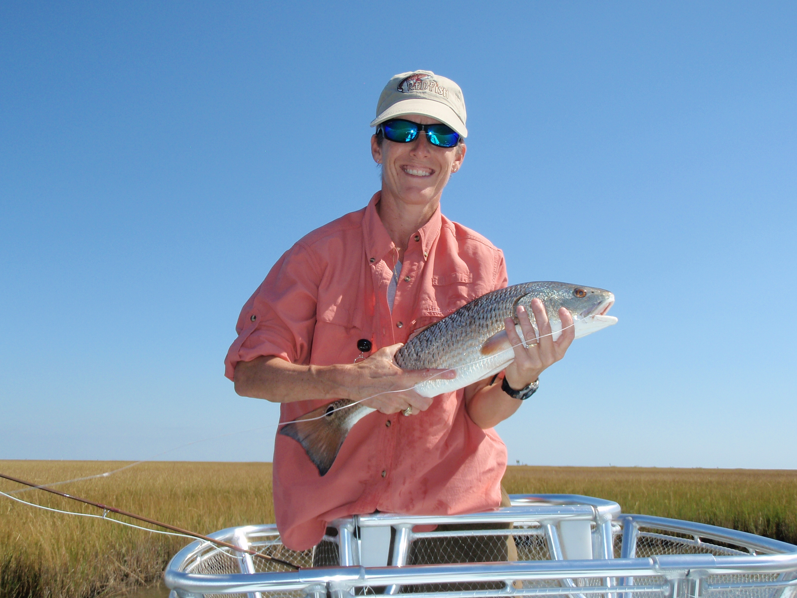 Sue & Louisiana Redfish 10-10.JPG