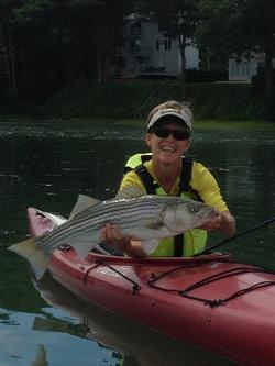 Sue kayak fishin'