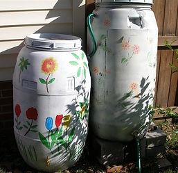 rain barrels daisy chained