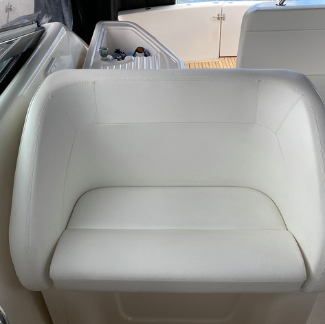 White Riviera Helm Chair