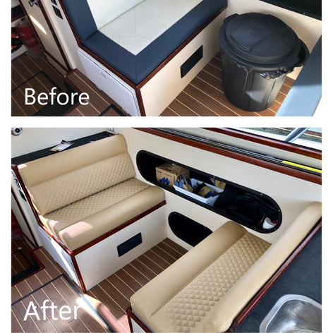 before and after boat seats