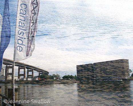 Canalside w/ Skyway, Buffalo, NY