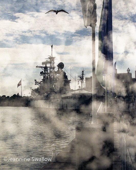 Naval Park in Clouds, Erie Basin Marina