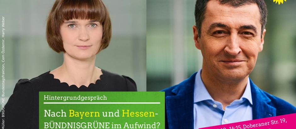 Nach Bayern und Hessen - Wahlauswertung mit Claudia Müller und Cem Özdemir