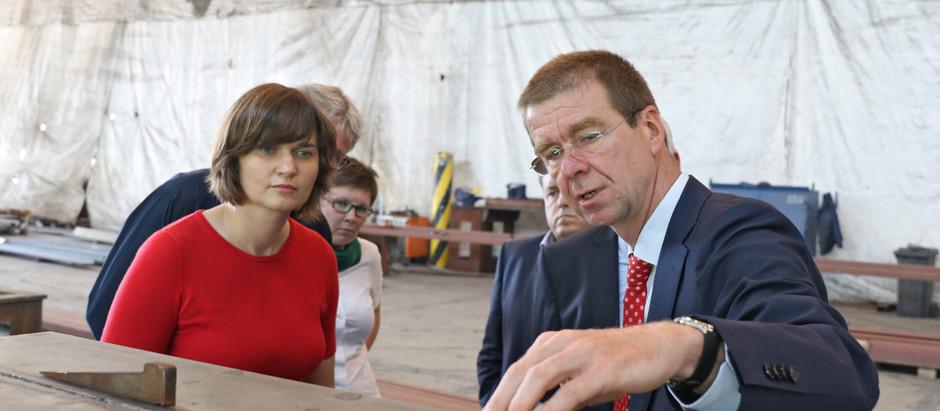Sprecherin für maritime Wirtschaft der Grünen besucht Ostseestaal