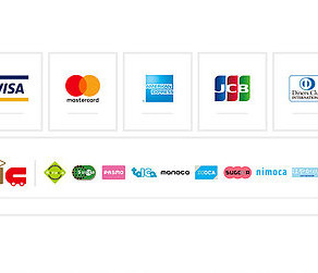 各種クレジットカード取り扱い開始!