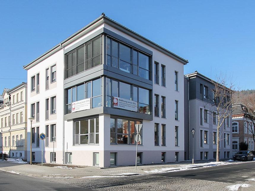 Neubau Pflegeheim Caritas in Rudolstadt - Fassade