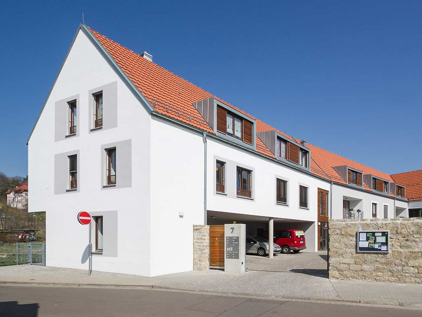 Neubau Mehrgenerationenwohnen Lebenshilfe in Erfurt - Fassade