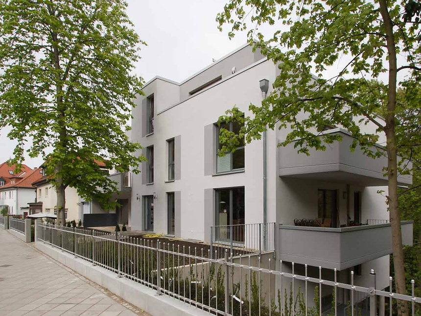 Neubau Mehrfamilienhaus Cyriakstraße - Fassade Straße