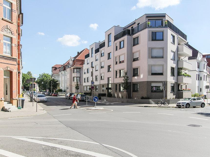 Neubau Mehrfamilienhaus Dalbergsweg in Erfurt - Fassade