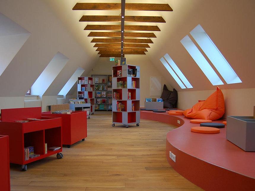 Denkmalpflegerische Sanierung Kinder- und Jugendbibliothek in Erfurt - Dachraum