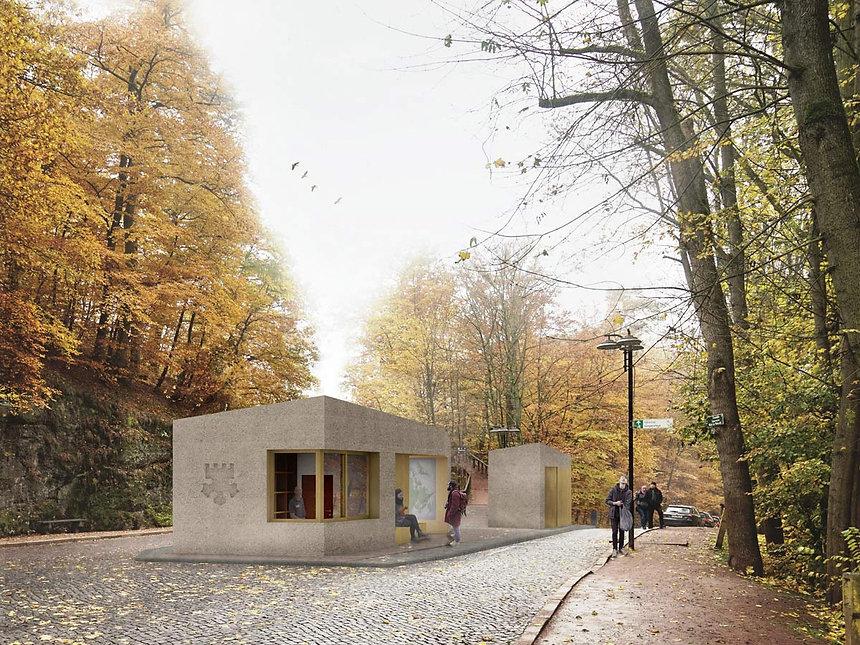 Wettbewerb Eingangspavillion Wartburg Eisenach - Visualisierung