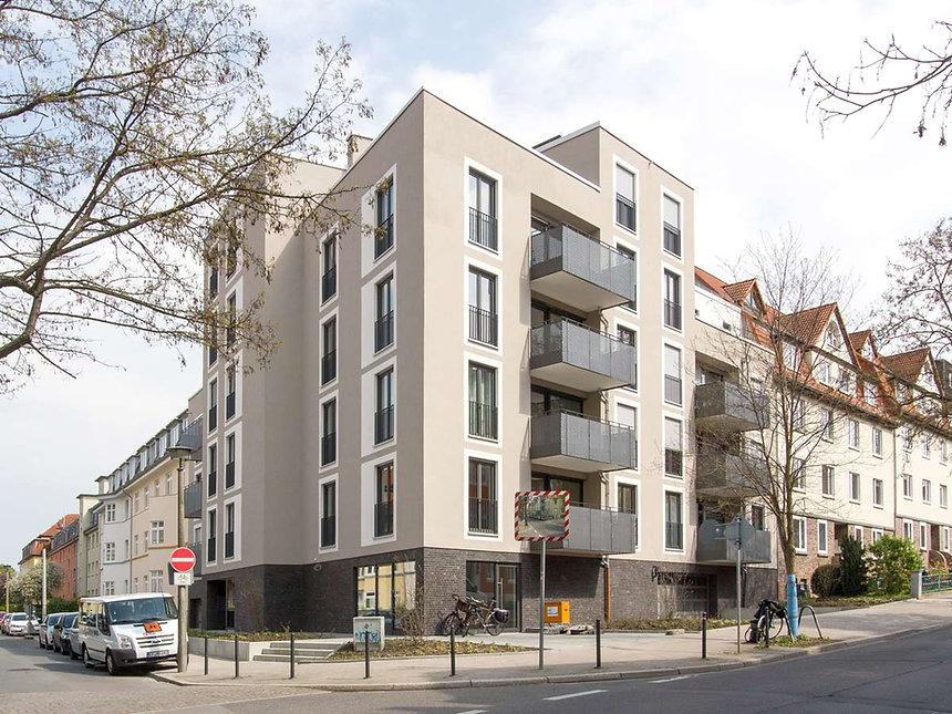 Neubau Mehrfamilienhaus Klausnerstraße in Erfurt - Fassade