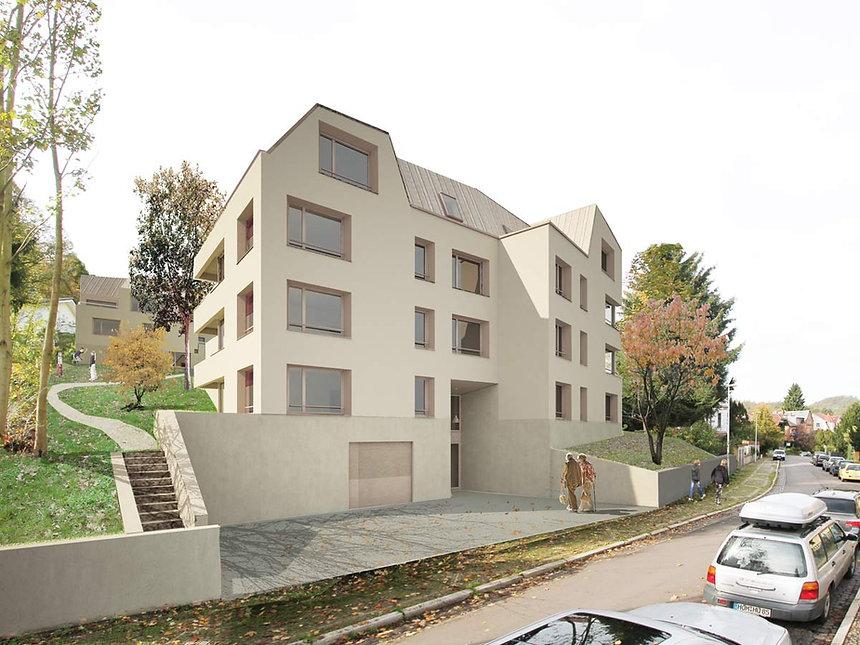Wettbewerb Wohnbebauung Eisenach Visualisierung