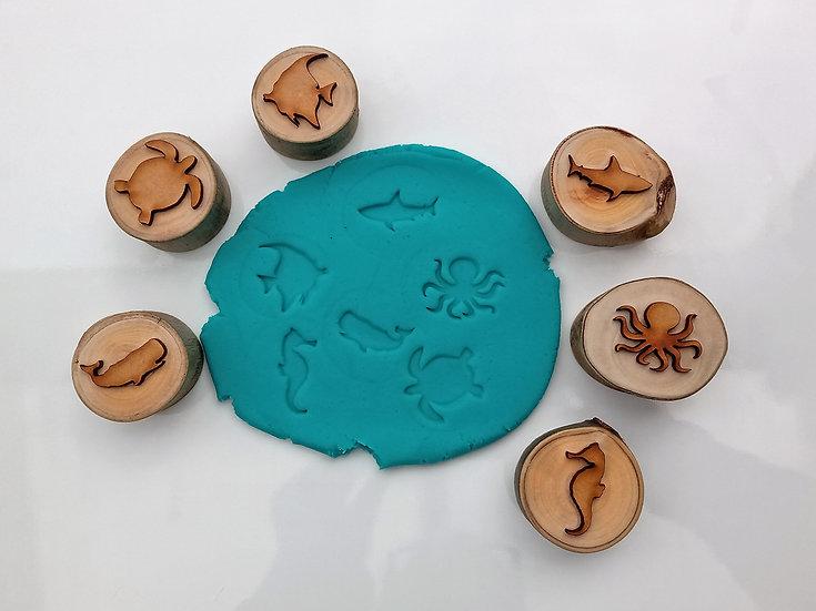Ocean Life Playdough Stampers (set of 6)