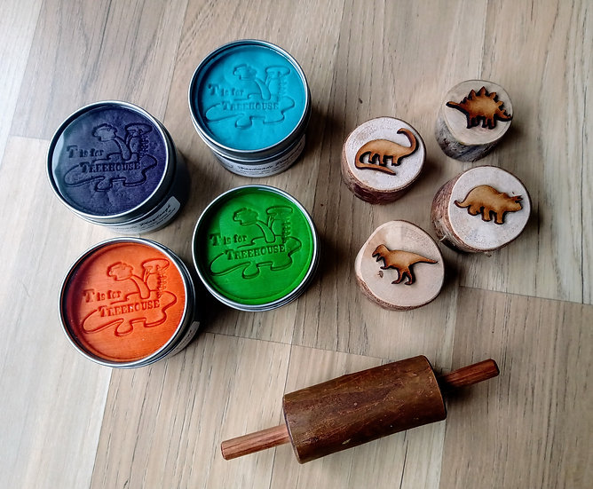Stamper and Playdough Kit - Dinosaurs