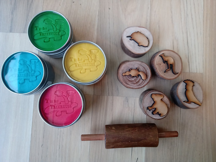 Stamper and Playdough Kit - Aussie Animals