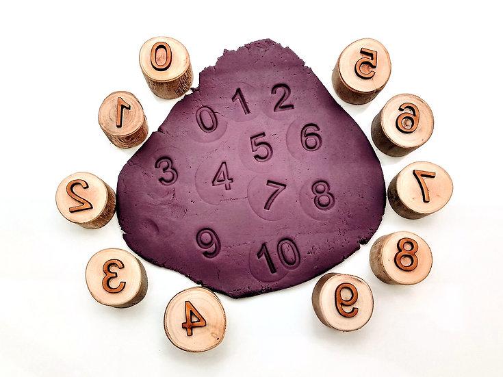 Number Playdough Stampers - set of 10