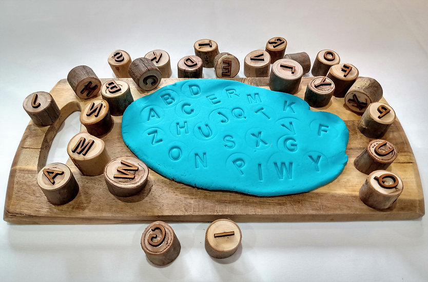 Alphabet Playdough Stampers - set of 26