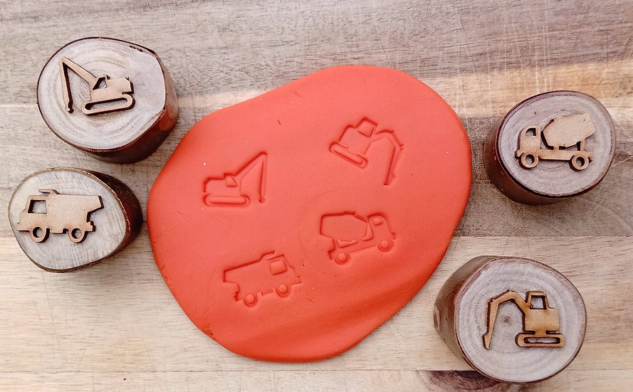 Construction Vehicles Playdough Stampers (set of 4)