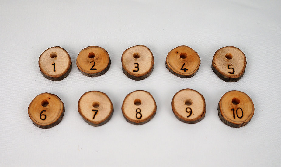Extra set of number discs for screwboards - numbers 1 - 10