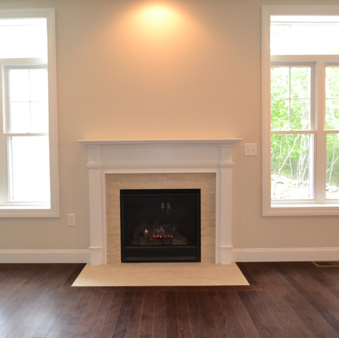 Gas Fireplace Surrounded by Natural Light