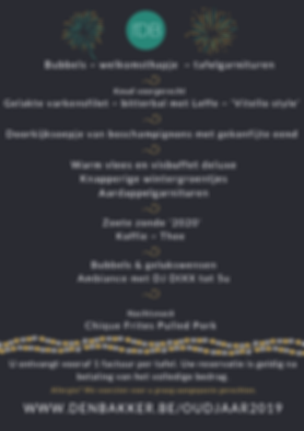 Oudjaar 2019 Feestzaal den Bakker Rijkev