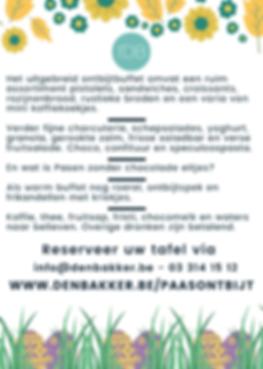 Feestzaal Paasontbijt Rijkevorsel 2020