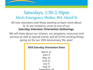 2016 Volunteer Orientations