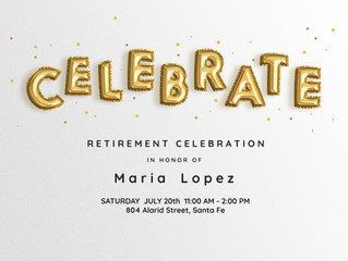 Maria's retirement celebration!