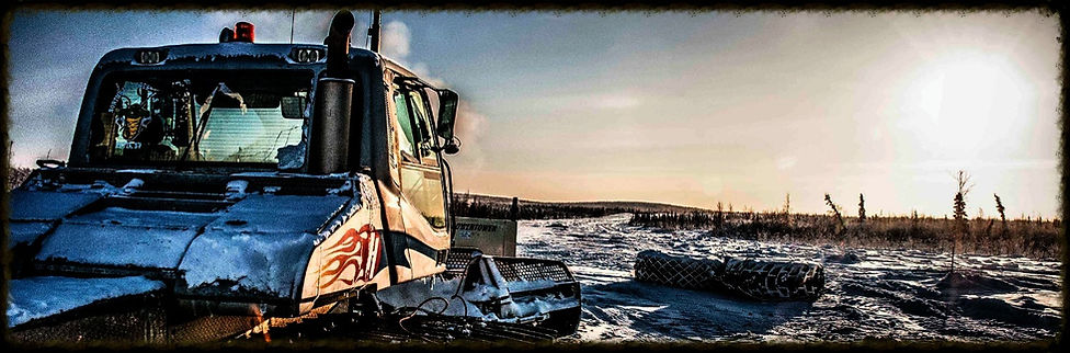 Northwind construction near Inuvik arctic ice road
