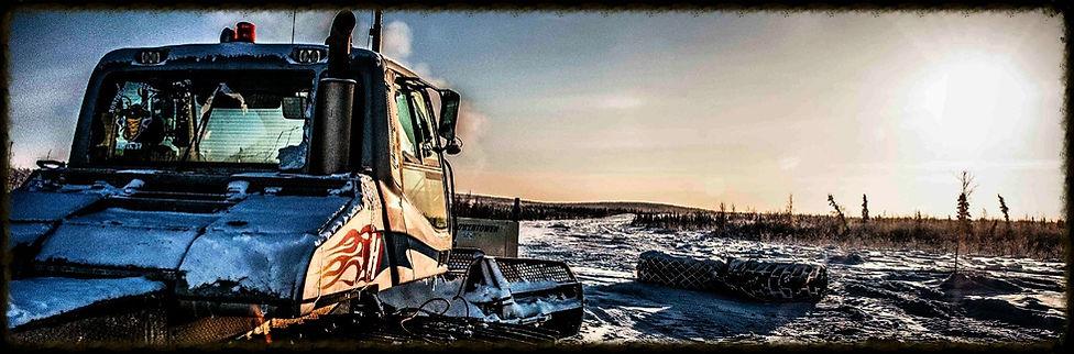 Northwind construction near Inuvik arctic ice road