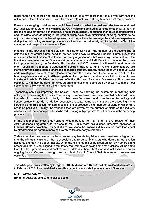 2019.02.27 AML Programme Review White Pa