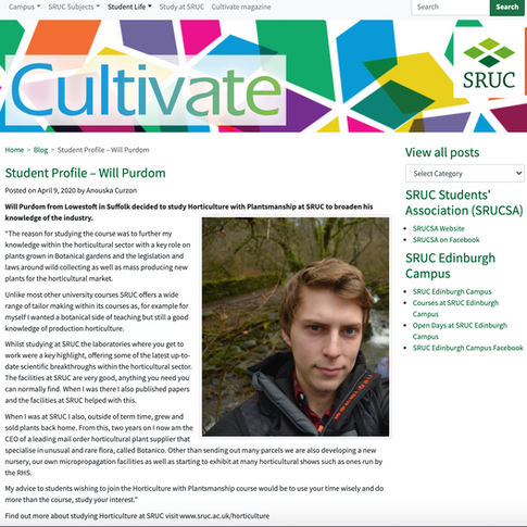 SRUC Student Profile April 2019