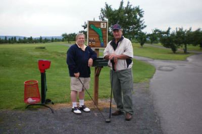 This is the first time that Jerry Murphy and Lou Chanin played golf together in 49 years. They had so much fun they continued playing after it started raining. Click to Enlarge Photo. Submitted by Jerry Murphy