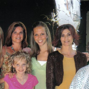 Granddaughter Brittany Leighann, oldest daughter Gina, step-granddaughter Brittany Ann, youngest daughter Donna and me. Front is granddaughter Sara