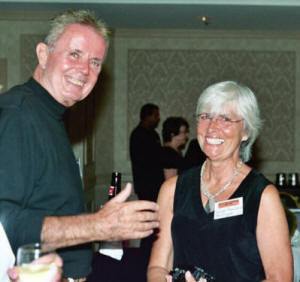 Russ Mulroy & Sue Amrhein at the Prom and 44 years later at the 2005 Reunion (Submitted by Russ Mulroy)