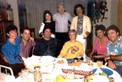 Warren Hechinger and his love of the moment, Gino Lynch in back, Jerry and Irene Murphy on the right with Ernie and Sheilla Brodsky at that time and myself with my future wife Carol. This was in California in the 80's Submitted by Jeff Chasan.