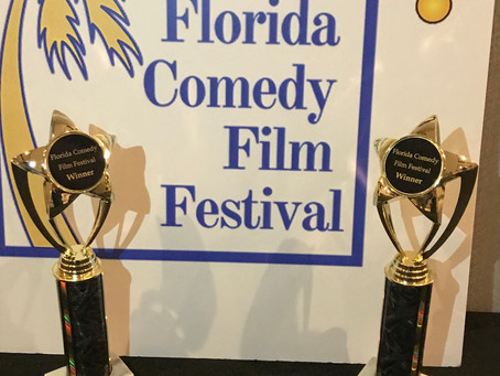 And the Oscar goes to...TALKING TO GOD! We won 2 awards at the Florida Comedy Film Festival!!!