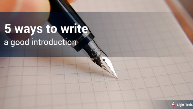 5 ways to write a good introduction