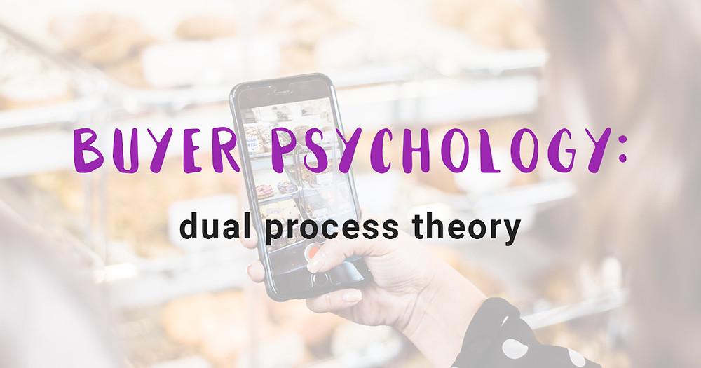 Buyer psychology: dual process theory
